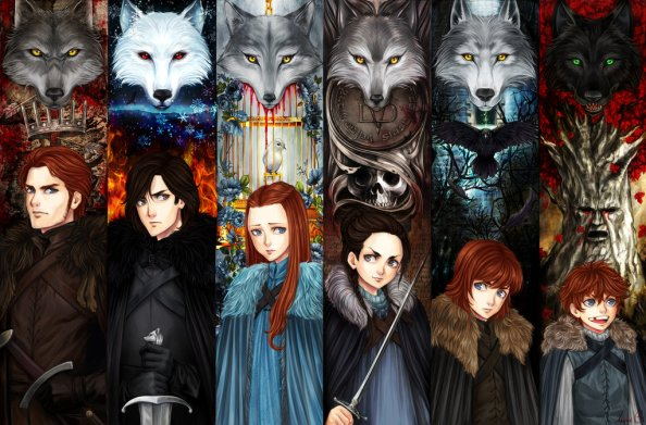 the_stark_children_by_aireenscolor-d8x1t8l